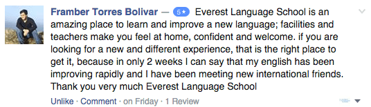 Student review Everest English School