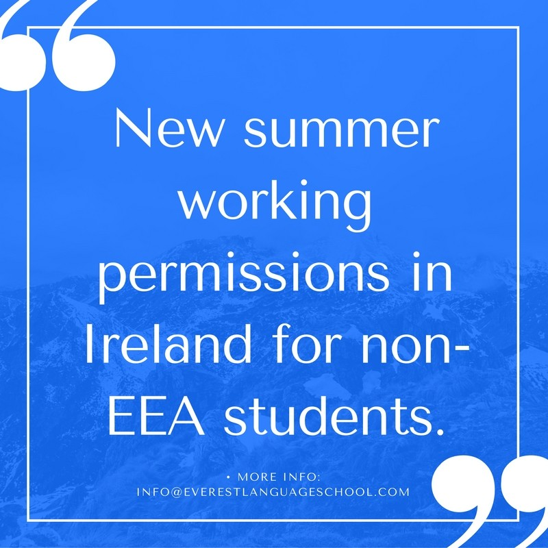 New Working Period permissions in Ireland for non-EEA students