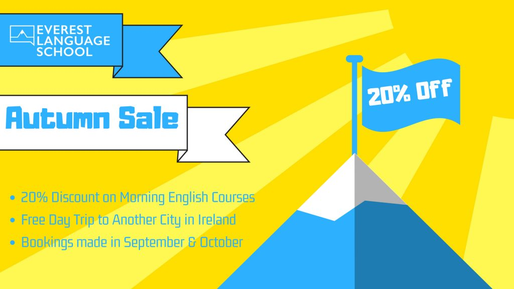 English Course Dublin - 20% Discount in English school
