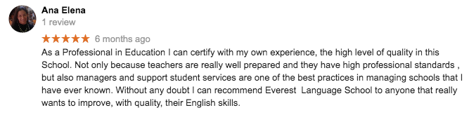 Quality English School in Dublin - Student review