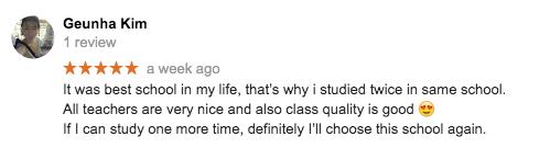Student review: Dublin English school